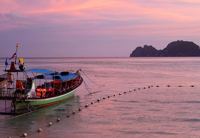 Ko Phi Phi Don, Thailand at sunset