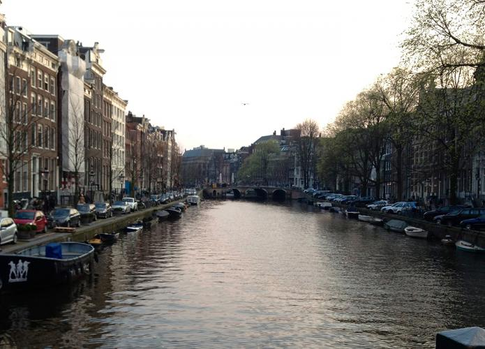 The Amstel River in Amsterdam