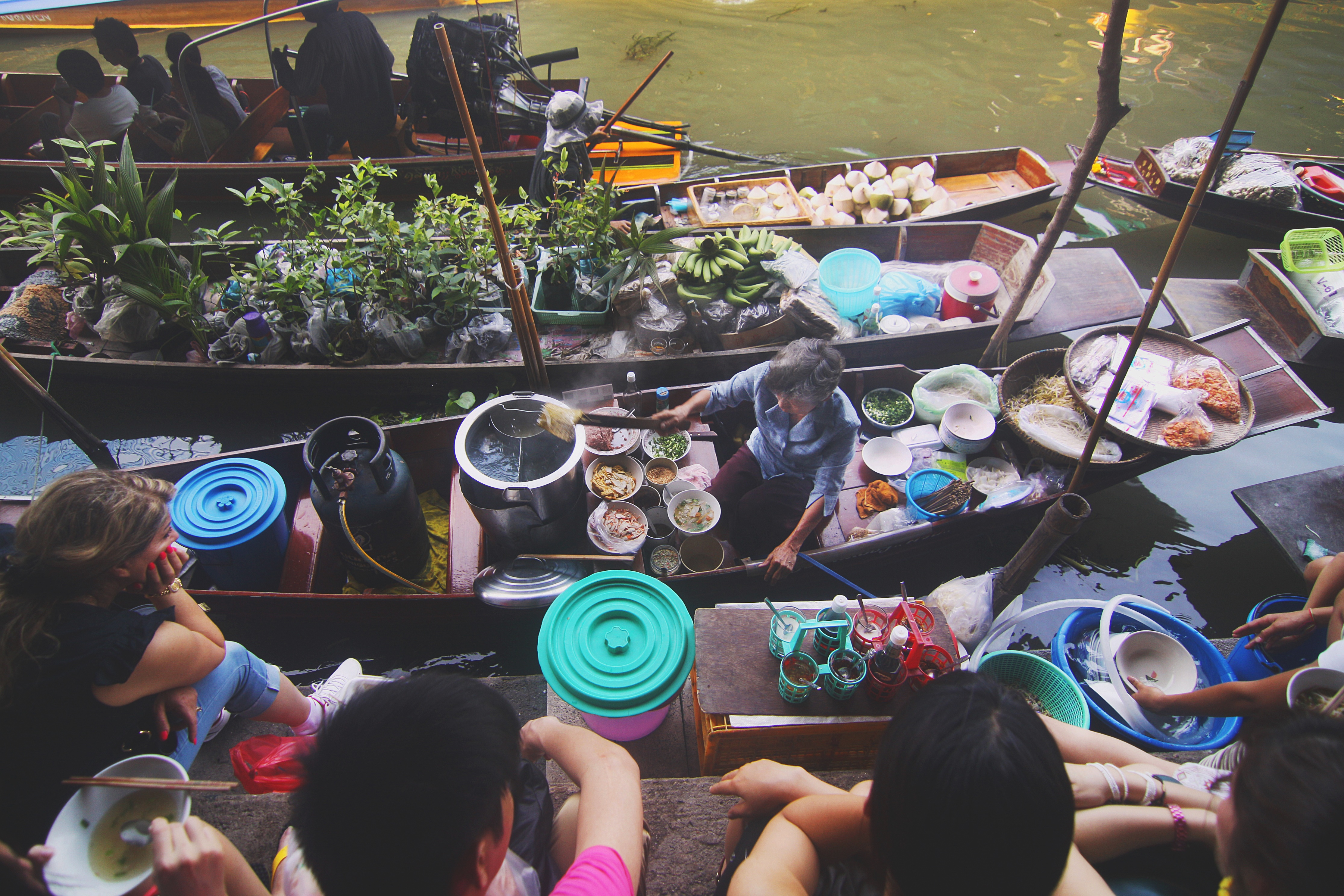 water channel markets in thailand
