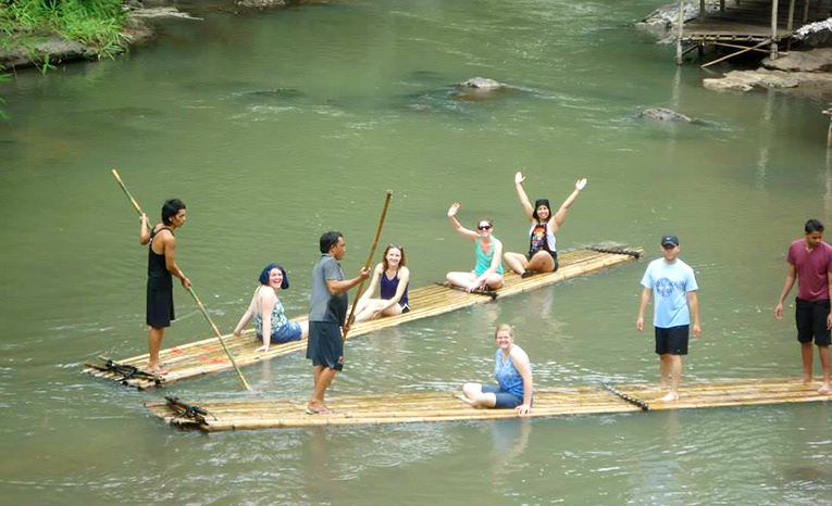Bamboo Rafting in Thailand