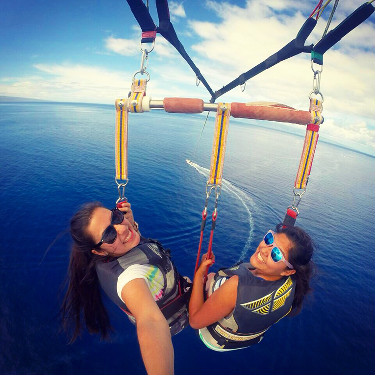 Parasailing in Maui, Hawaii