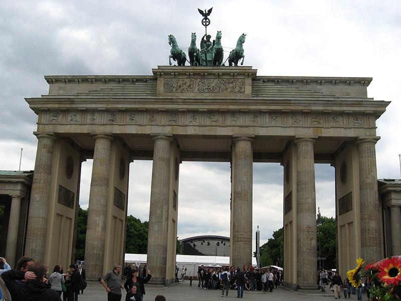 The Brandenburg Gate or Tor in Berlin, Germany