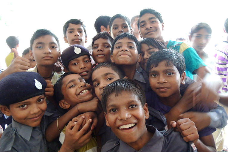 Local kids in India