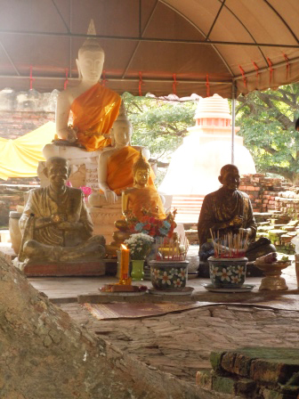 Buddha statues in a temple in AngThong