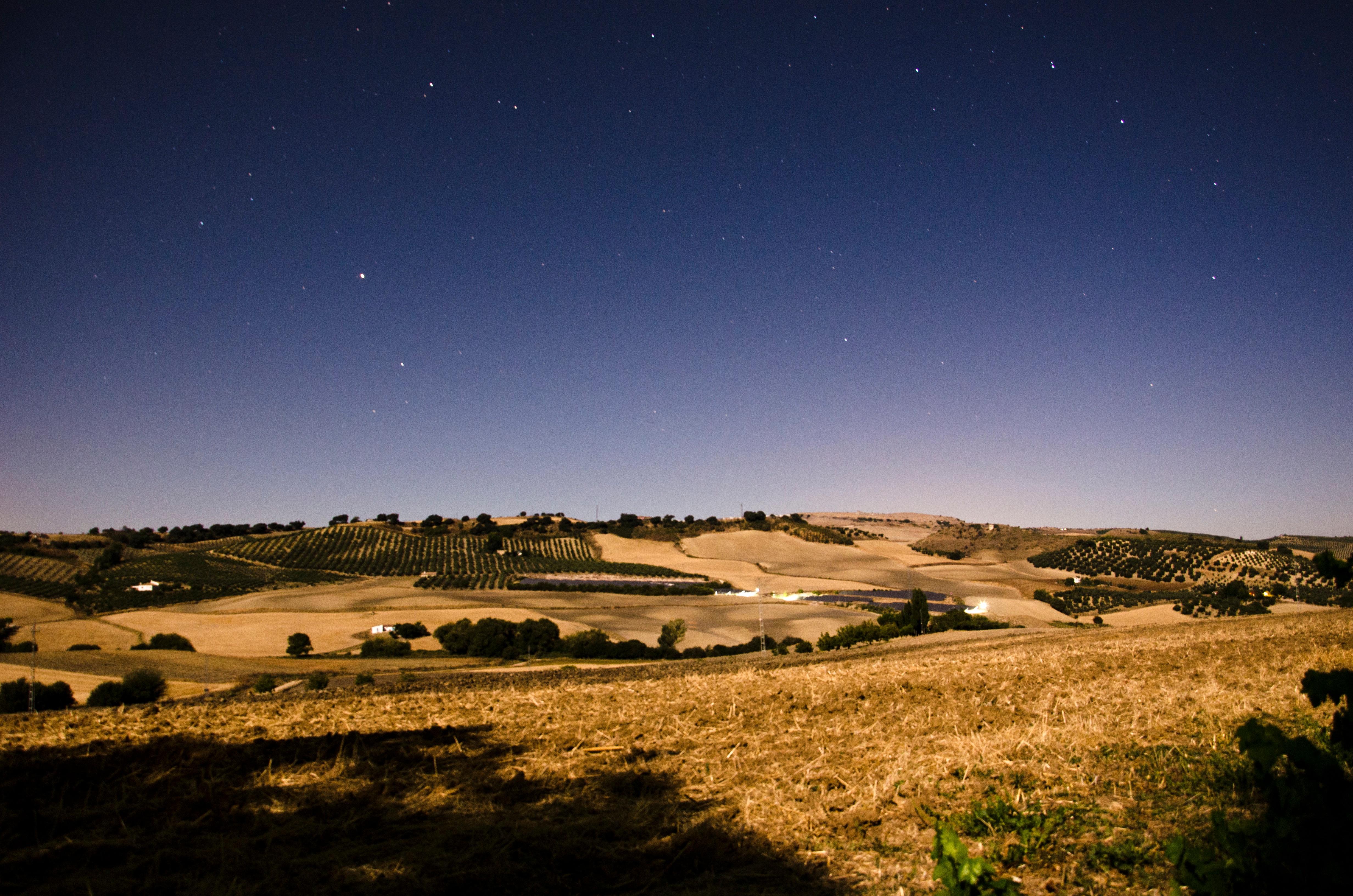 spanish countryside at nightfall