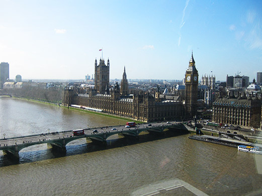 The world famous Big Ben of London, England