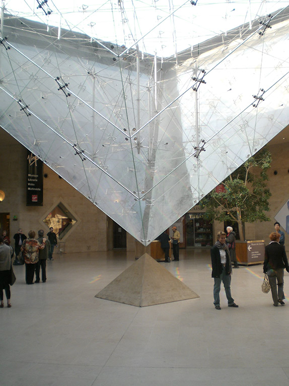 Under the Louvre in Paris, France