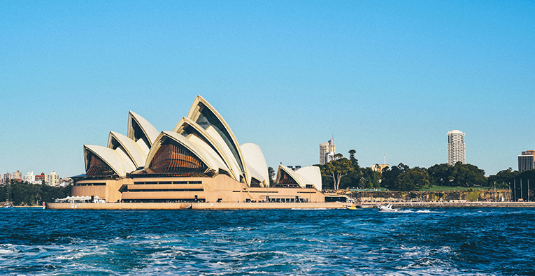 View of the Sydney Opera House in Australia