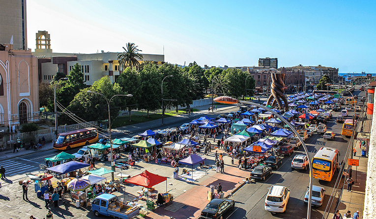 Street market in Santiago, Chile