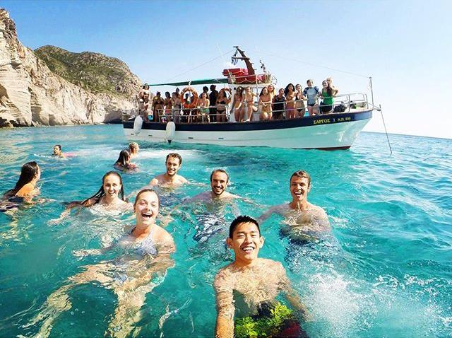 Swimming in Paros Island, Greece