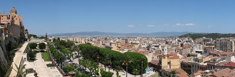 View of Cagliari, Italy