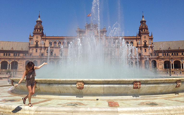 Fountain in Seville, Spain