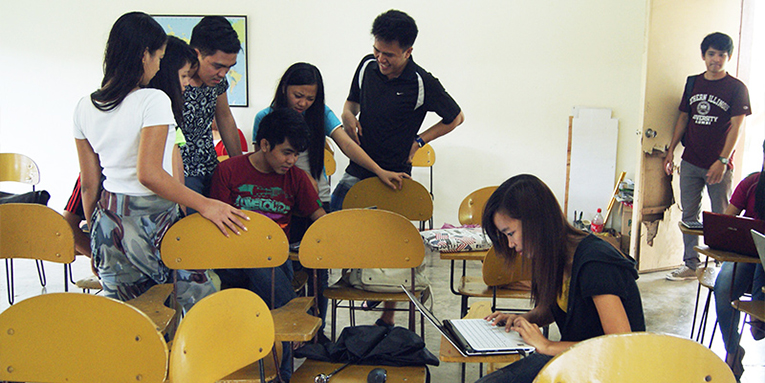 Students in a calssroom