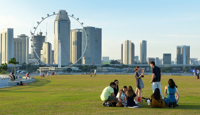 The Marina Barrage in Singapore