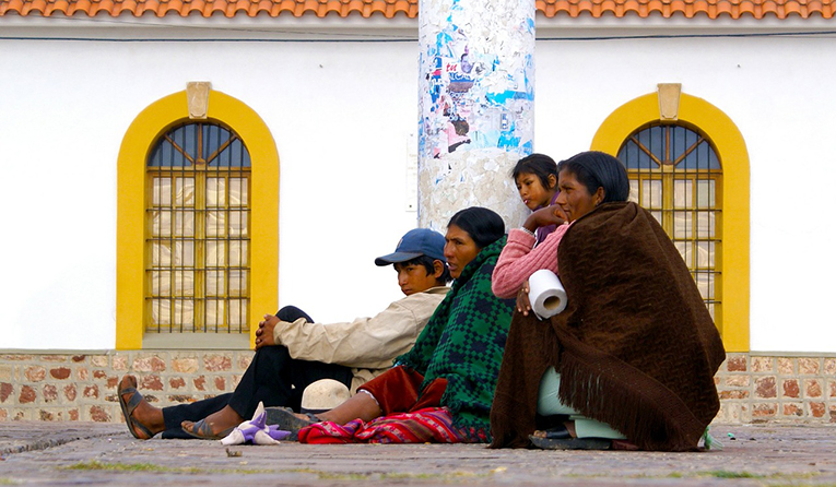 Bolivian family in Sucre