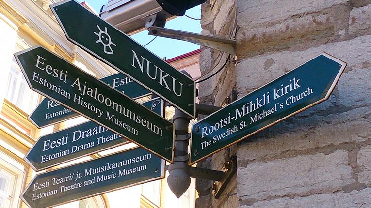Road Signs in Tallinn, Estonia