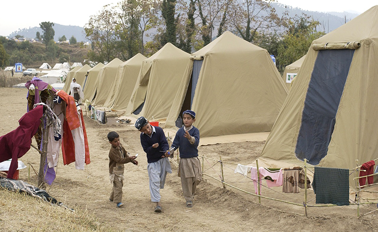 Refugee camp in Pakistan.