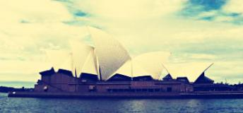 A view of the Sydney Opera House from the sea
