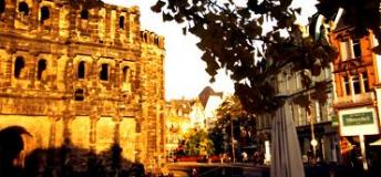 A view of the Porta Nigra in Trier, oldest city in Germany