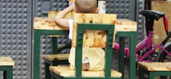 Get used to seeing bare-bottomed-babes while studying in China. The split pants of toddlers and infants are a common sight.