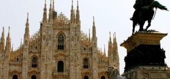 Take a tour inside the vast Milan Cathedral while interning in Milan, Italy.