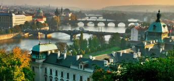 A majestic view of the city of Prague.