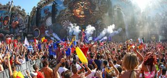 Tomorrowland Festival in Belgium.