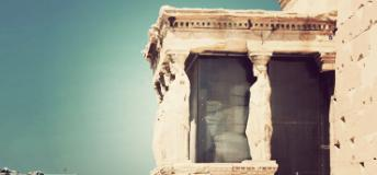 A part of the Parthenon in the afternoon sun
