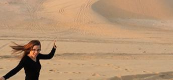 surfing the Singing Sand Dunes of Qatar