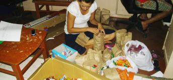 Sponsorship Program Intern, Preparing a Snack for Sponsored Children