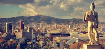 Cityscape of Barcelona, Spain