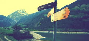 Sign pole in Switzerland