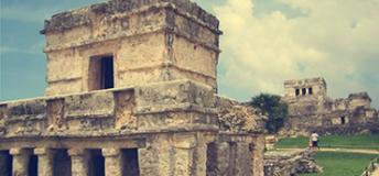 Aztec ruins in Mexico.