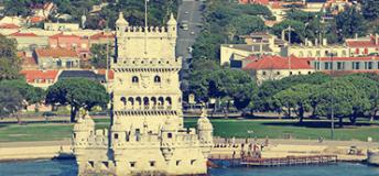 The Belem Tower in Lisbon, Portugal.