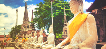 Buddha statues in Thailand.