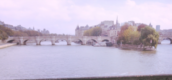 Love locks in Paris, France
