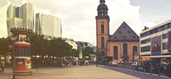 The Main Tower in Frankfurt, Germany.