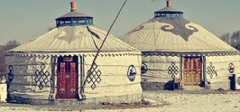 Traditional gers in Mongolia