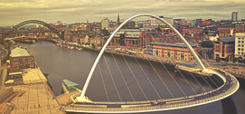 View of the Tyne River in Newcastle, England