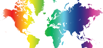 Rainbow map of the world