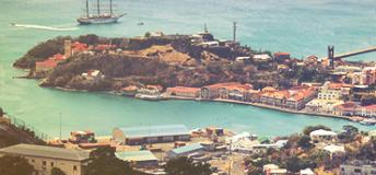 The port of St George, Grenada.
