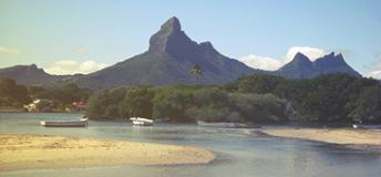 The Tamarin beach in Mauritius.
