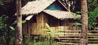 A common sight in rural Philippines, the nipa hut