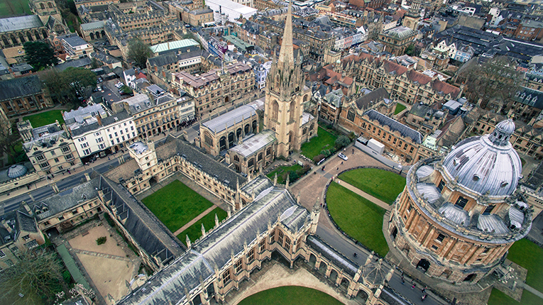 Oxford, England from above