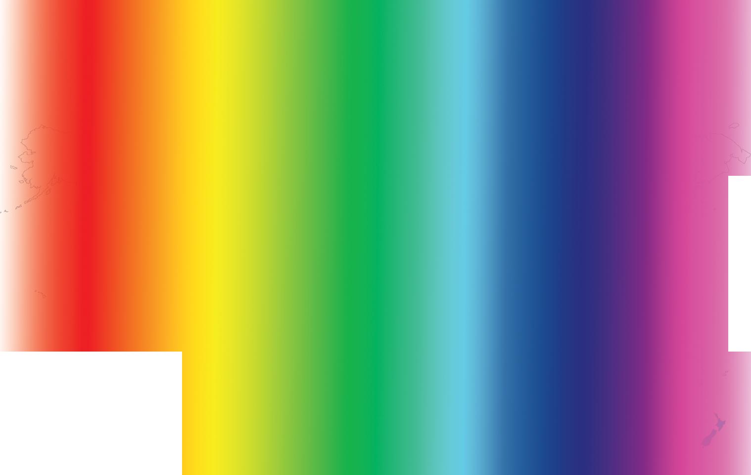Rainbow map of the world