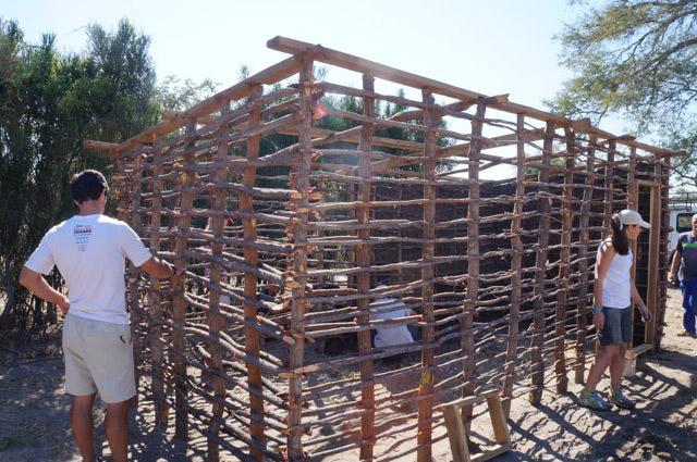 Volunteer building homes in Zambia