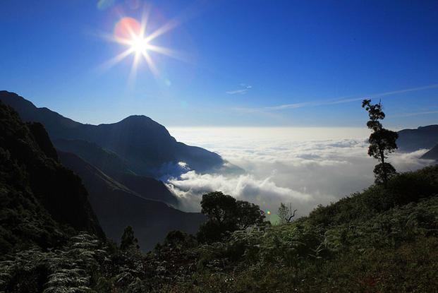 Mountain view in Kerala, India