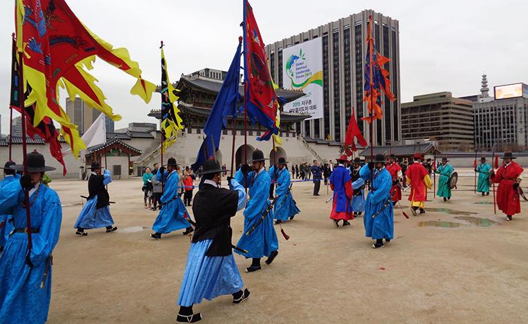 Royal Guard-Changing Ceremony at Gyeongbokgung Palace in Seoul, South Korea