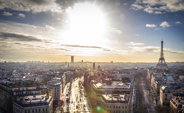 Skyline in Paris, France